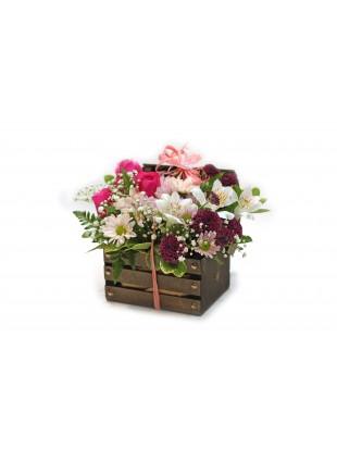 Baú de Flores Mistas