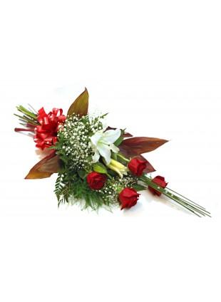 Bouquet de Rosas & Lirio na Horizontal