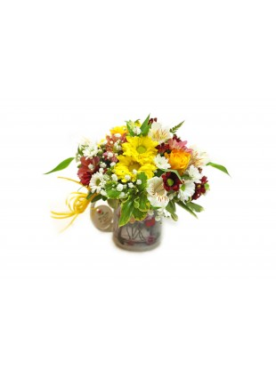 Flores Mistas na Xícara