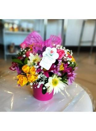 Latinha de Flores Mistas